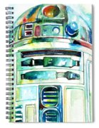 R2-d2 Watercolor Portrait Spiral Notebook