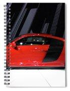 R8 In Red Spiral Notebook