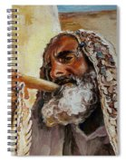 Rabbi Blowing Shofar Spiral Notebook