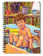 Rabbit In The Pool Spiral Notebook