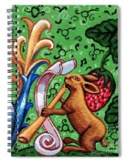 Rabbit Plays The Flute Spiral Notebook