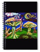 Rabbits At Night Spiral Notebook