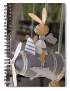 Rabbits Can Fly Spiral Notebook