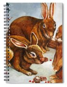 Rabbits In Snow Spiral Notebook
