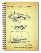 Race Car Track With Race Car Retaining Means Patent 1968 Spiral Notebook