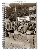 Race Cars Crown Point Indiana June 19 1909 Spiral Notebook