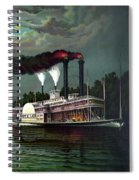 Race Of The Steamers Robert E Lee And Natchez Spiral Notebook