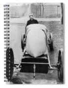 Racecar Driver, C1906 Spiral Notebook