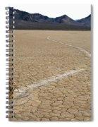 Racetrack Sailing Rocks Death Valley National Park Spiral Notebook