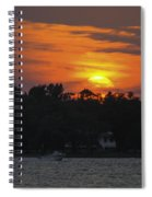 Racing Against The Sunset Spiral Notebook
