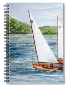 Racing On The Lake Spiral Notebook