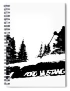 Racing Over The Ski Jump Spiral Notebook