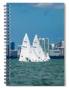 Racing Past Miami Spiral Notebook