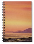 Radiant Island Sunset Spiral Notebook