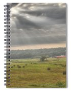 Radiant Light Over The Farm Spiral Notebook