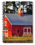 Radiant Red Barn Spiral Notebook