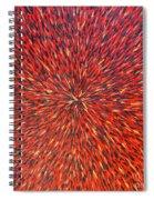 Radiation Red  Spiral Notebook