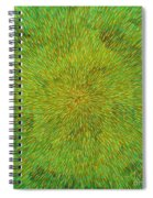 Radiation With Green Yellow And Orange  Spiral Notebook