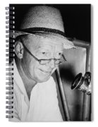 Radio Broadcaster Red Barber 1955 Spiral Notebook