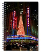 Radio City At Christmas Time - Holiday And Christmas Card Spiral Notebook