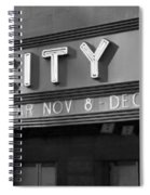 Radio City In Black And White Spiral Notebook