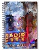 Radio City New York Spiral Notebook