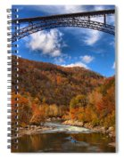Rafting Down The New River Gorge Spiral Notebook