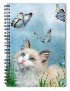 Ragdoll Kitty And Butterflies Spiral Notebook