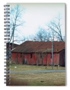 Ragged Red Shed I Spiral Notebook