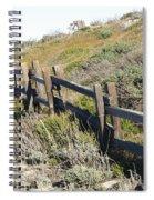 Rail Fence Black Spiral Notebook