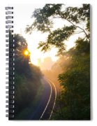 Rail Road Sunrise Spiral Notebook