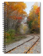 Rail Through The Colors Spiral Notebook
