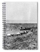 Railroad And Wagon Train Spiral Notebook