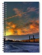 Railroad At Dawn Spiral Notebook
