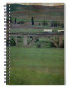 Railroad Bridge At Rosalia Texture Spiral Notebook