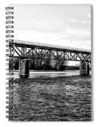 Railroad Bridge Over The Schuylkill River In Norristown Spiral Notebook