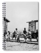 Railroad Chinese Workers Spiral Notebook