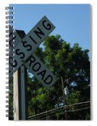 Railroad Crossing Spiral Notebook