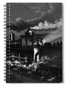Railroad Danger Signal Spiral Notebook