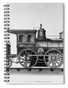 Railroad Engine, C1874 Spiral Notebook