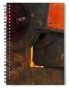 Railroad Gate Signal Spiral Notebook