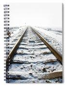 Railroad In Snow Spiral Notebook