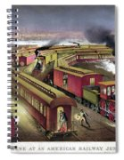 Railroad Junction, C1876 Spiral Notebook