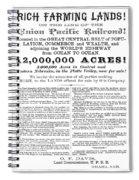 Railroad Land Sale, C1870 Spiral Notebook