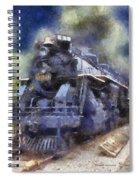 Railroad Locomotive 639 Type 2 8 2 Photo Art Spiral Notebook