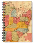 Railroad Map Of The United States 1852 Spiral Notebook