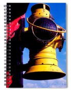 Railroad Oil Lantern Spiral Notebook