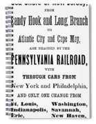 Railroad Resorts, 1884 Spiral Notebook