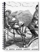 Railroad Safety, 1853 Spiral Notebook