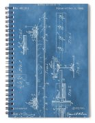 Railroad Tie Patent On Blue Spiral Notebook